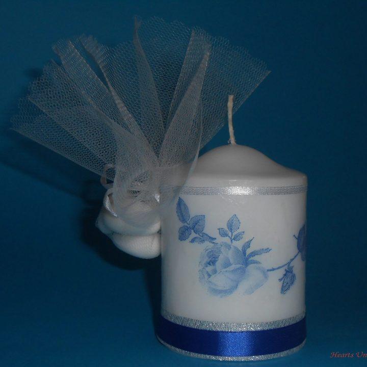 Μπομπονιέρα γάμου κερί - ΚΩΔ.: BG024 | μπομπονιέρες γάμου από heartsunionart.gr
