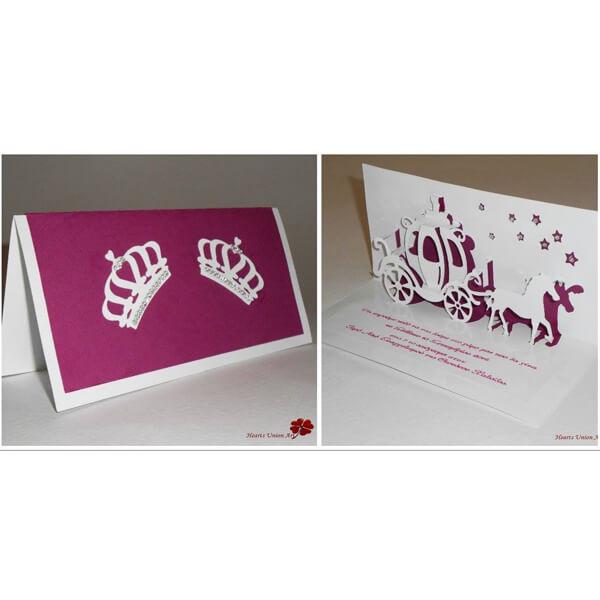 3D Προσκλητήριο γάμου - ΚΩΔ.: PG006 | προσκλητήρια γάμου από heartsunionart.gr