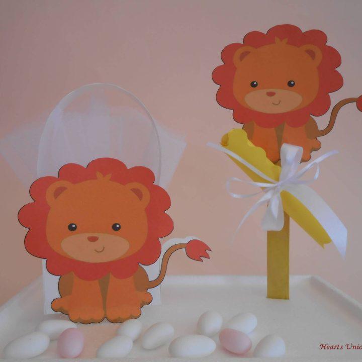 Μπομπονιέρα βάπτισης Λιοντάρι - ΚΩΔ.: BB006   μπομπονιέρες βάπτισης από heartsunionart.gr
