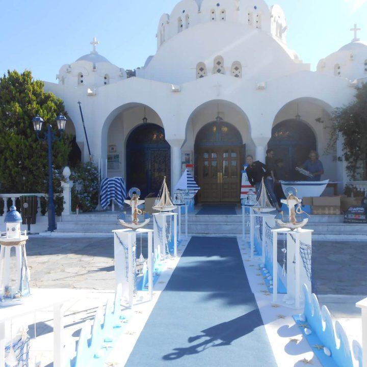 Στολισμός βάπτισης για αγόρι από heartsunionart.gr